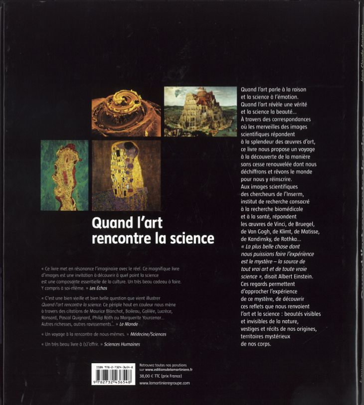Quand l'art rencontre la science - 4ème de couverture