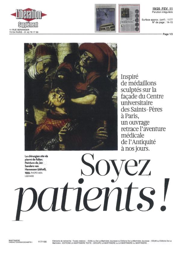 Une histoire de la médecine - Article libé 1
